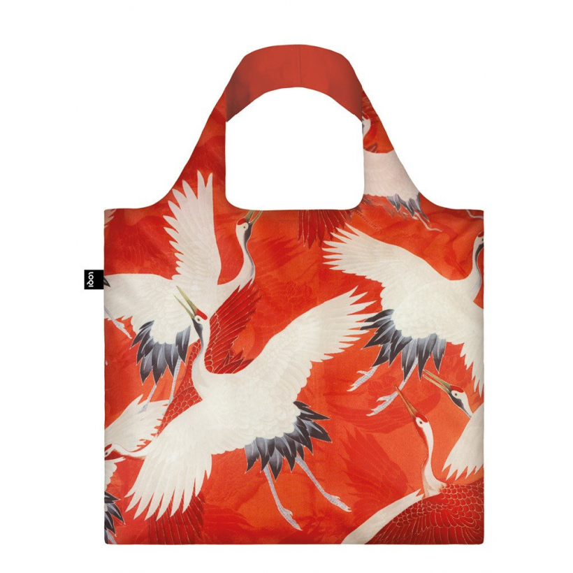 Сумка LOQI MUSEUM COLLECTION - WOMANS HAORI White and Red Cranes (арт. LOQI.WH.CR) -